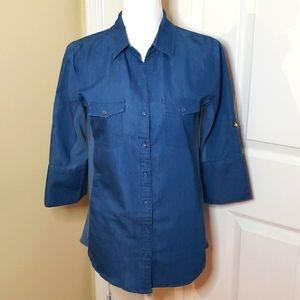 Harve Benard jean quarter sleeve shirt